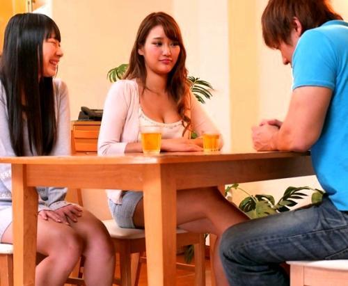 【若菜奈央】スレンダー巨乳なS級美女の彼女の姉に、「生でイイよ♡」と誘惑され寝取られ生中出しセックス!